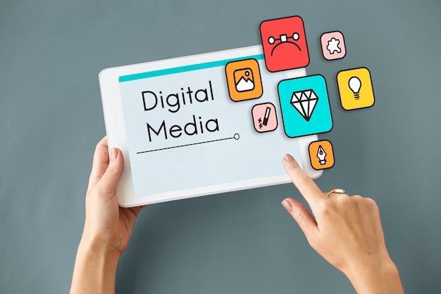 Configuração de conteúdo criatividade mídia digital