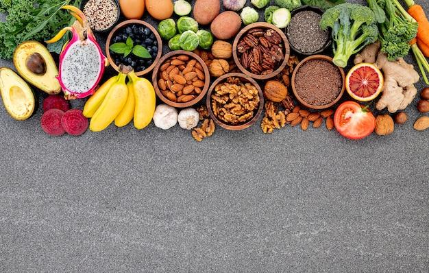 Configuração de ingredientes para a seleção de alimentos saudáveis.