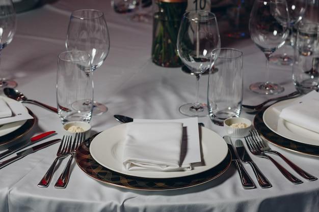 Configuração de luxo no restaurante