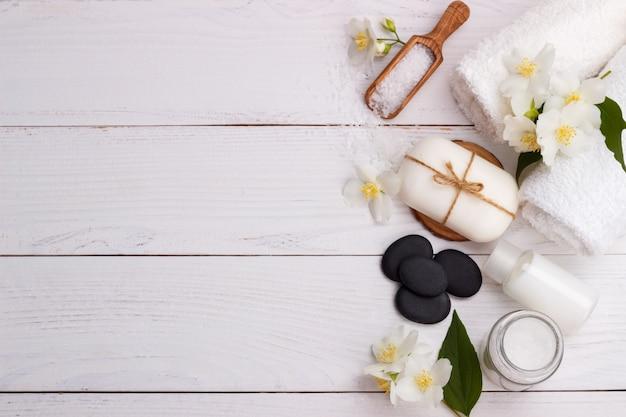 Configuração de spa e itens de cuidados de saúde