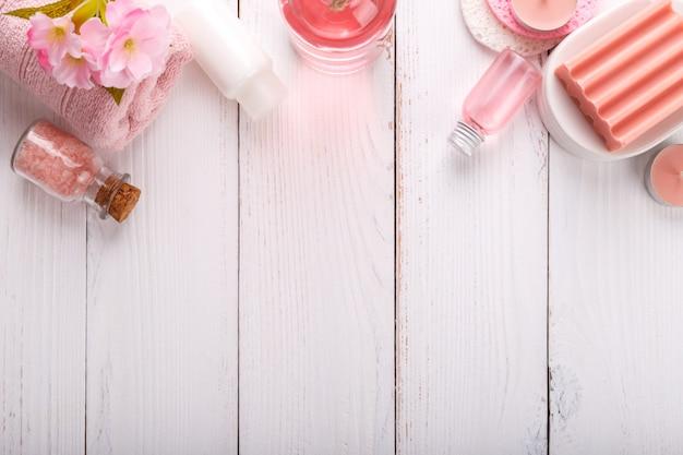 Configuração de spa rosa