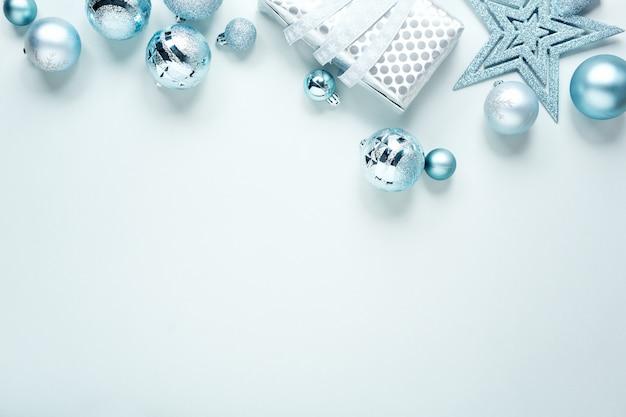 Configuração plana de natal azul