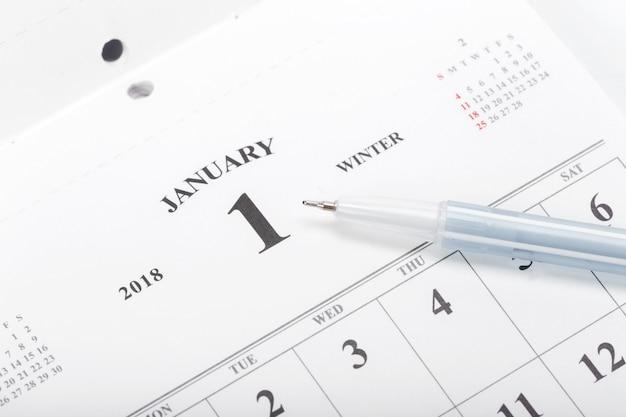 Confira as datas em um conceito de calendário comercial