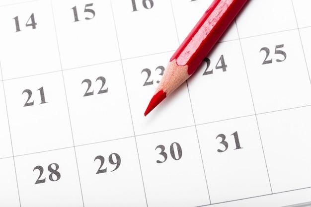 Confira as datas em um conceito de calendário de negócios