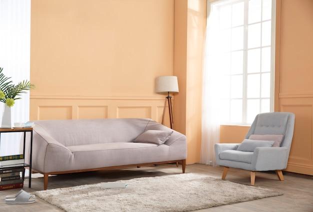 Confortável sala nórdica