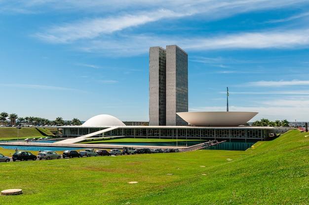 Congresso nacional em um dia ensolarado em brasilia df brasil em 14 de agosto de 2008