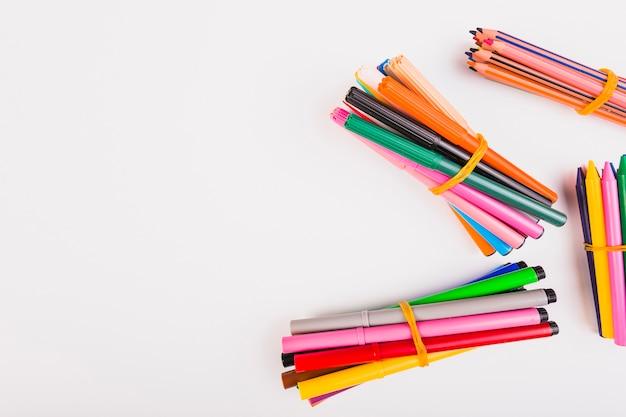 Conjunto colorido para pintura
