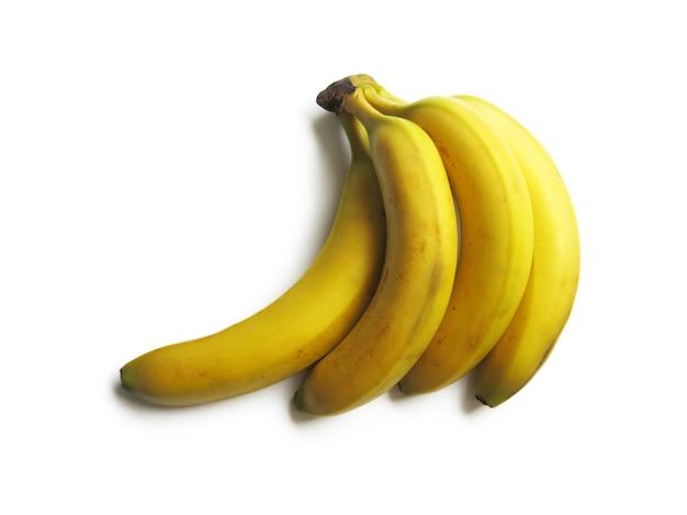 Conjunto de bananas amarelas