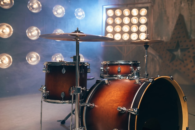 Conjunto de bateria, conjunto de bateria, instrumento de percussão