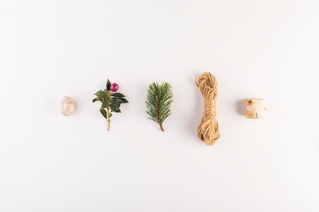 Conjunto de belas decorações diferentes