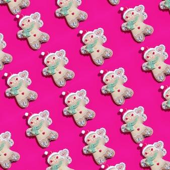 Conjunto de biscoitos em forma de brinquedos de natal