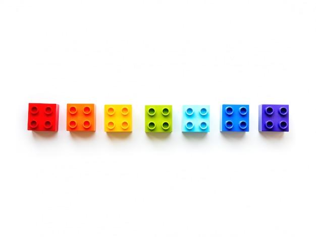 Conjunto de blocos coloridos de construtor