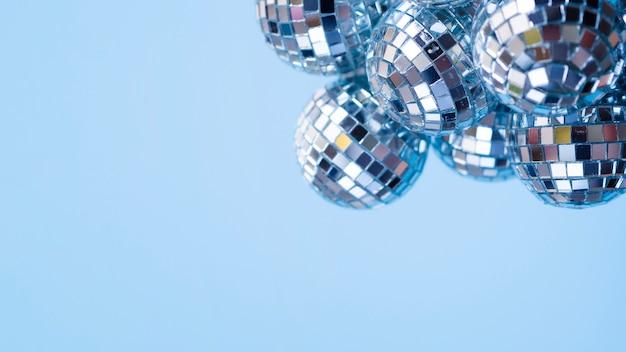 Conjunto de bolas de decoração com espaço de cópia