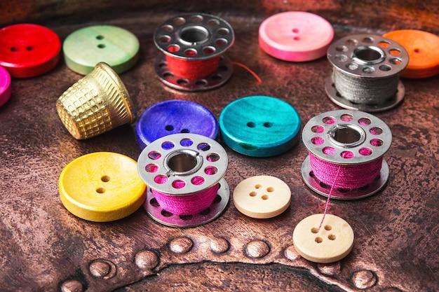 Conjunto de botões de costura