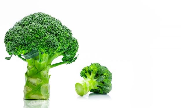 Conjunto de brócolis verde (brassica oleracea)
