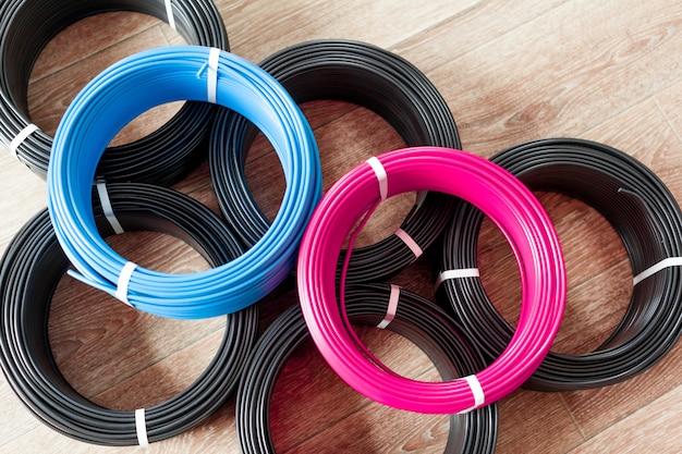 Conjunto de cabo elétrico colorido