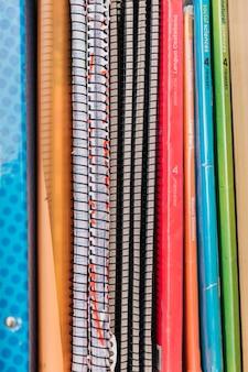 Conjunto de cadernos escolares