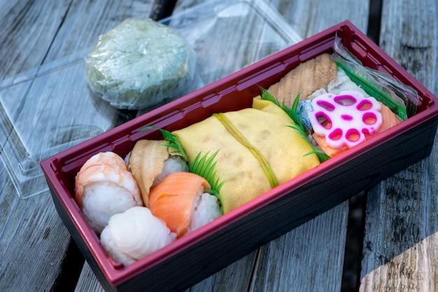 Conjunto de caixa de comida japonesa
