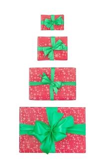 Conjunto de caixas de presente de natal