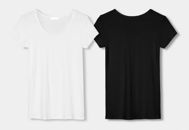 Conjunto de camisetas minimalistas em preto e branco