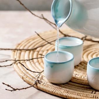 Conjunto de cerâmica sake
