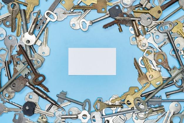 Conjunto de chaves com espaço para cópia, segurança da propriedade e proteção da casa