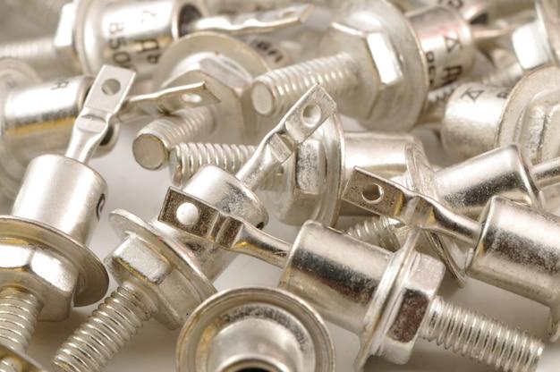 Conjunto de closeup de diodo zener metall poder