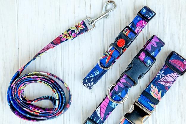 Conjunto de coleira e trela de cachorro suprimentos para animais de estimação e coleção de equipamentos de caminhada