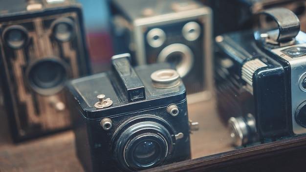 Conjunto de coleta de câmera de filme antigo