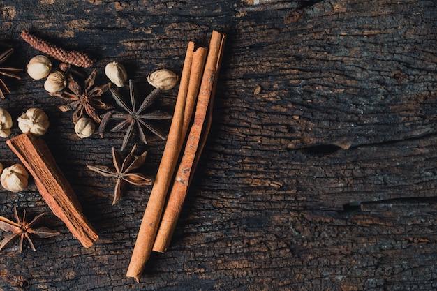 Conjunto de coleta de ervas secas mistura de sementes de plantas secas à base de plantas para natureza alternativa médica antecedentes