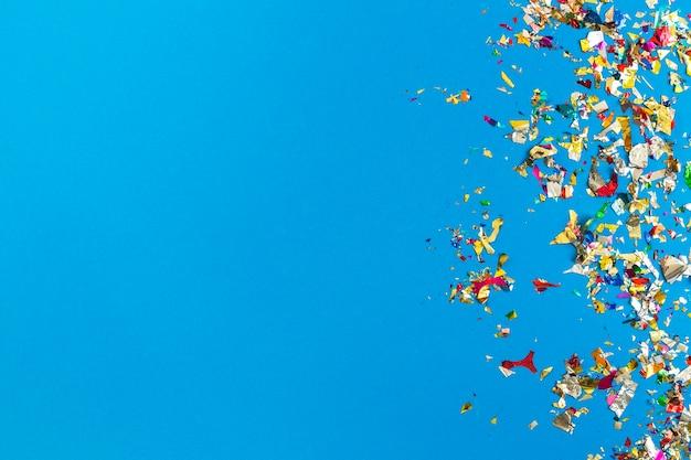 Conjunto de confetes brilhantes