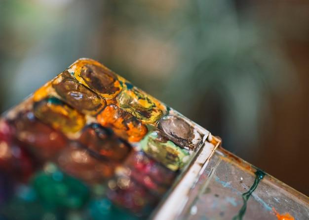 Conjunto de cores de água