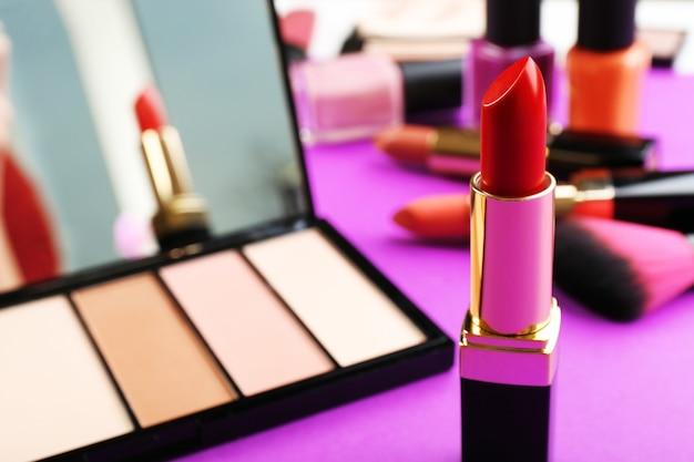 Conjunto de cosméticos closeup