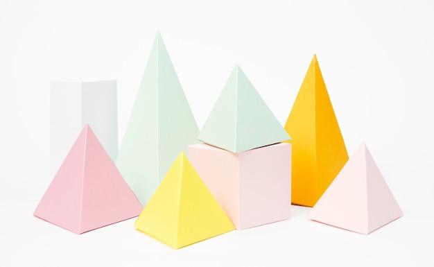 Conjunto de elementos de papel pastel