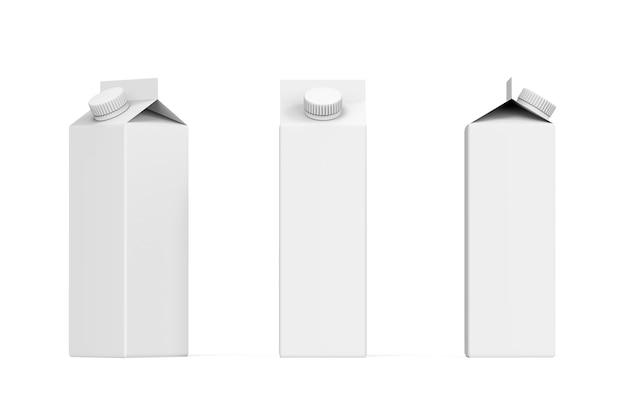 Conjunto de embalagens de papel para produtos de bebidas renderização 3d