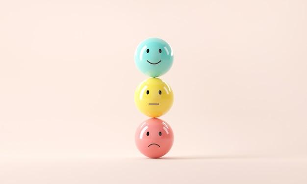 Conjunto de emoticons emoji com humor triste e feliz