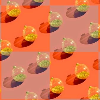 Conjunto de enfeites decorativos transparentes