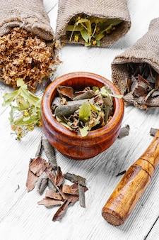 Conjunto de ervas medicinais