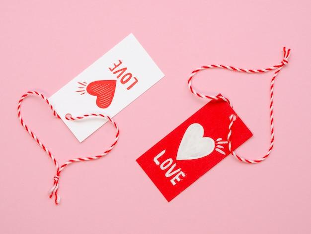 Conjunto de etiquetas de amor fofo