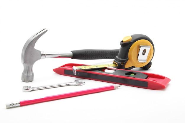 Conjunto de ferramentas de construção