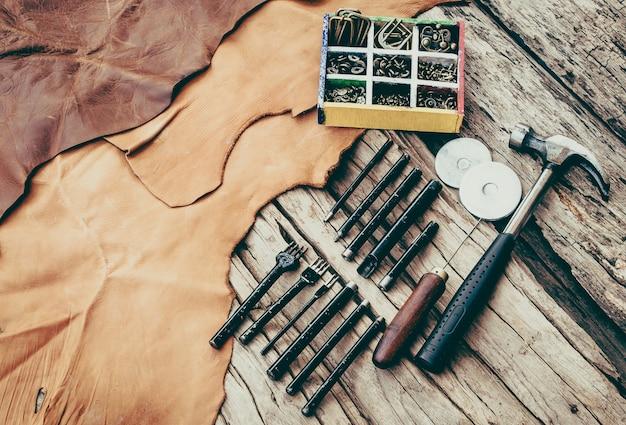 Conjunto de ferramentas de costura de mão leathercraft
