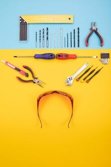 Conjunto de ferramentas para metais em colorido