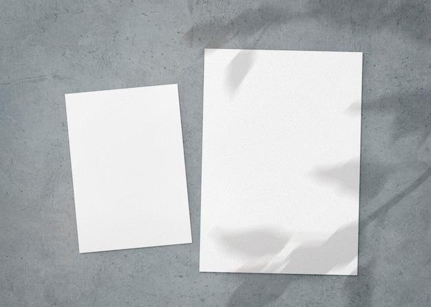 Conjunto de folhas a4 e a5