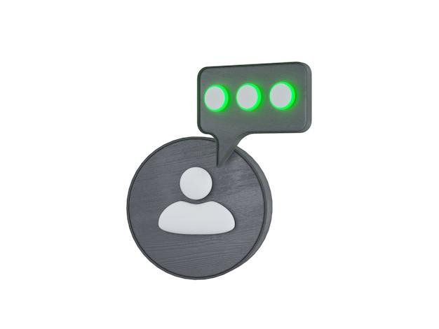 Conjunto de ícones de comunicação empresarial isolado no fundo branco ilustração de sinais corporativos 3d