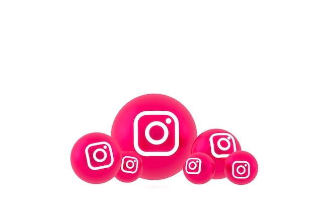 Conjunto de ícones do instagram renderização em branco