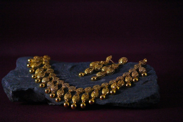 Conjunto de joias com brincos