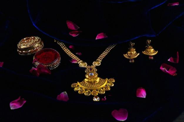 Conjunto de jóias de casamento indiano