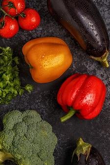 Conjunto de legumes para cozinhar