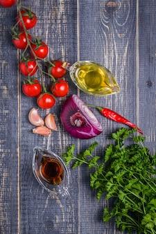 Conjunto de legumes para molho de molho