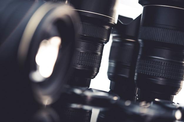 Conjunto de lentes fotográficas pro